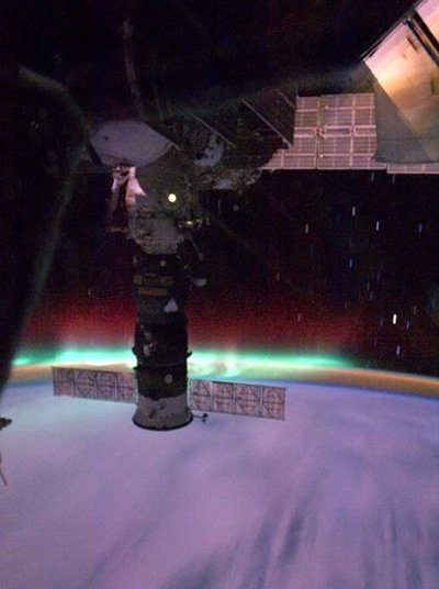 aurora-boreale-space-station-iss-foto