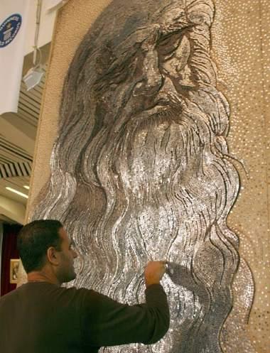 2006-Saimir-Strati-Leonardo-da-Vinci-chiodi-record-guinness-mosaico
