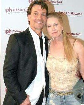 Patrick-Swayze-con-la-moglie-Lisa