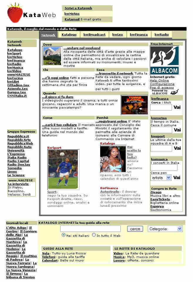 kataweb-home-page
