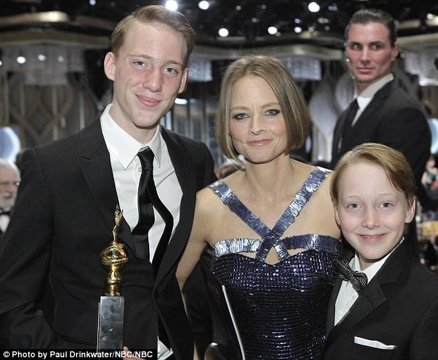 Jodie-Foster-figli-sons-golden-globe