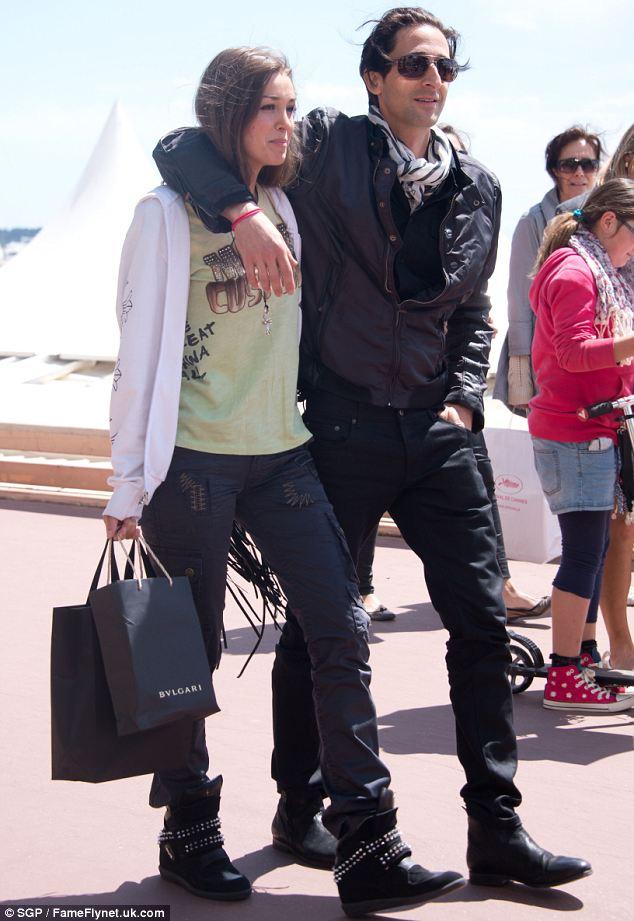 Lara-Lieto-Adrien-Brody-festival-di-Cannes