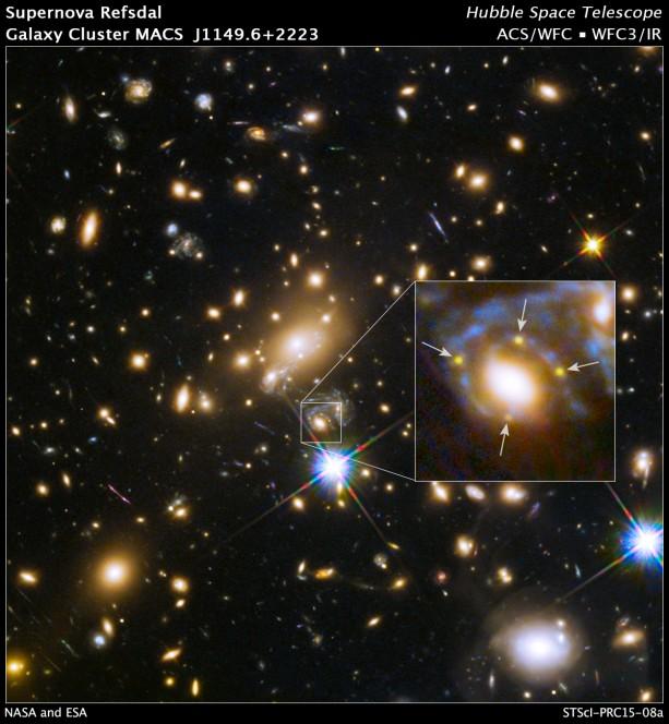 immagine 1 - supernova x 4 apparizione nov 2014
